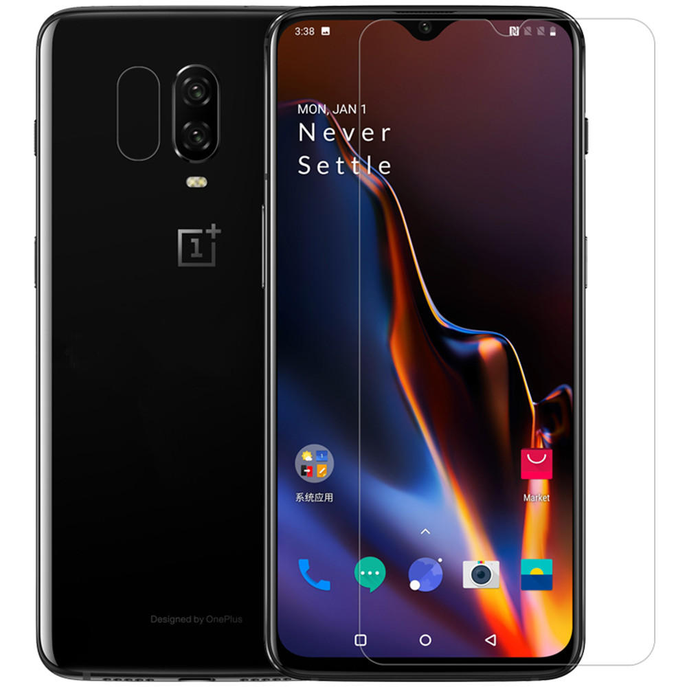 NILLKIN Anti-scratch High Definition Clear Screen Protector + Lens Protective Film for OnePlus 6T/OnePlus 7