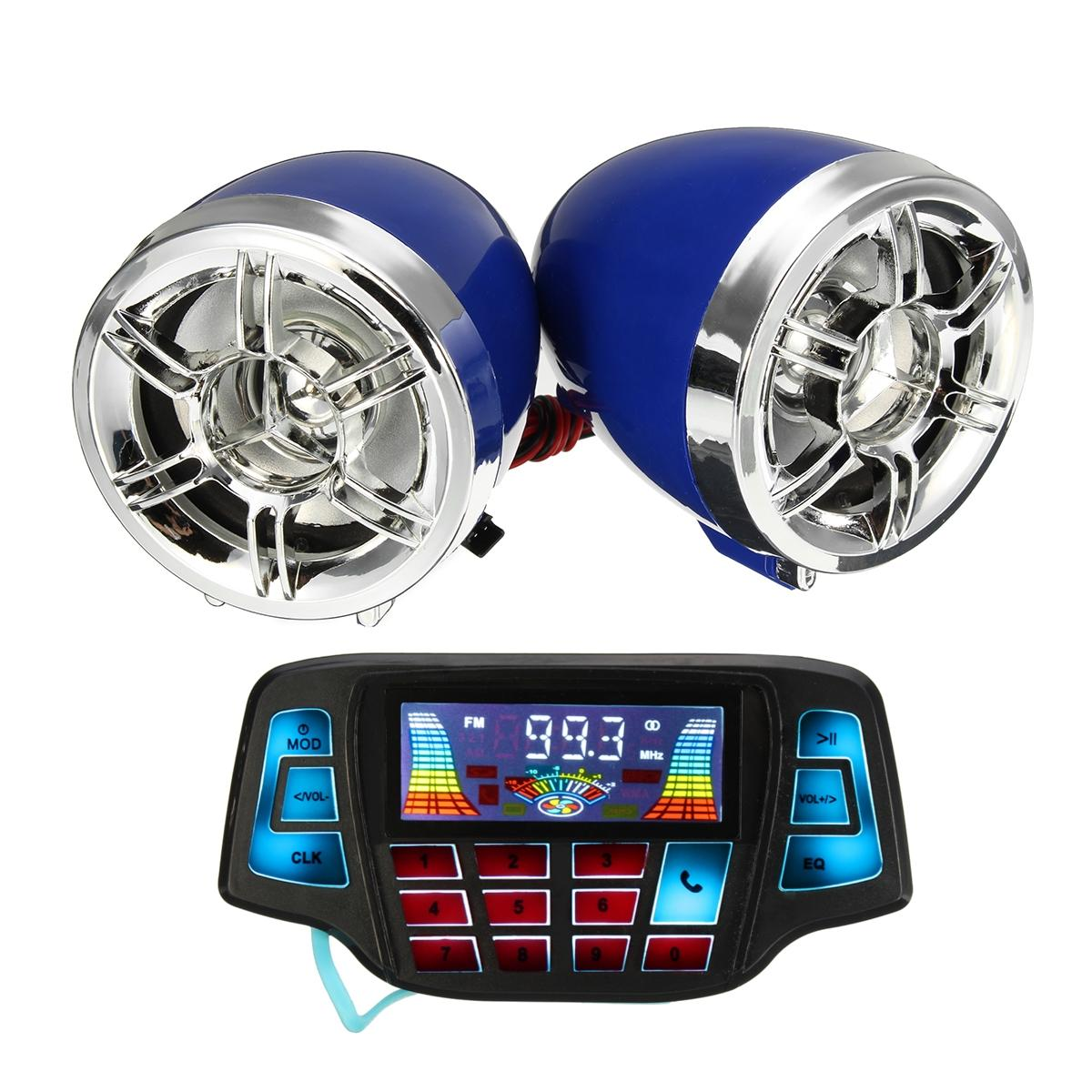 Motorcycle LCD Screen MP3 Speakers Handlebar Audio USB SD FM with bluetooth Function фото