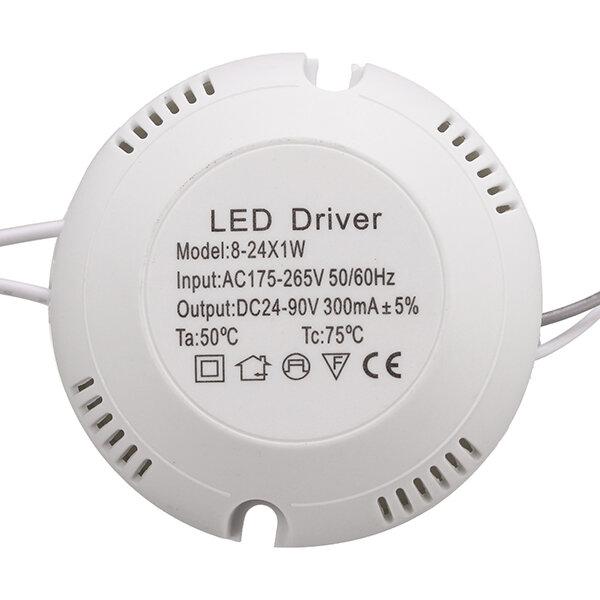 छत लैंप के लिए AC180V-260V 8-25W एलईडी चालक बिजली की आपूर्ति