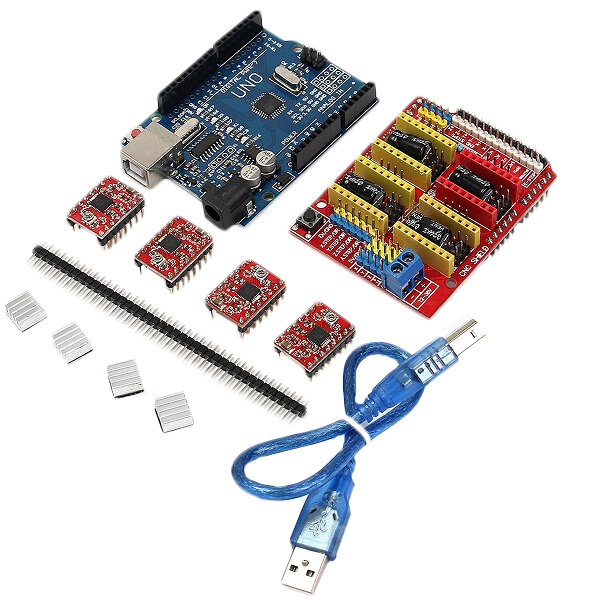 Geekcreit® CNC Shield UNO-R3 Board 4xA4988 Driver Kit With Heat Sink For Arduino Engraver 3D Printer