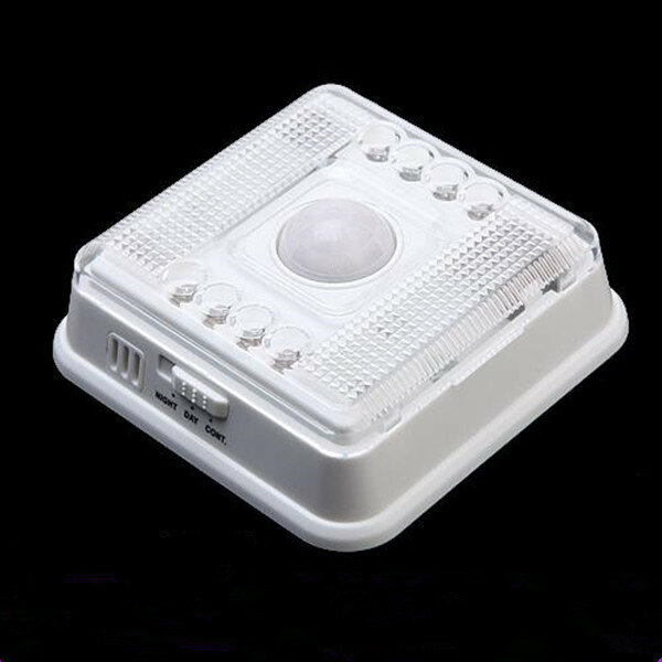 Auto 8 LED Light PIR Sensor Motion Detector Wireless Infrared Indoor Light