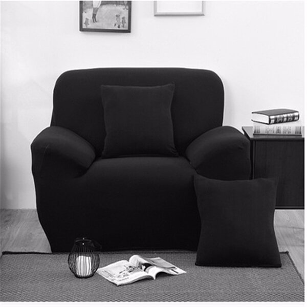 Tres plazas colores sólidos textil del spandex strench sofá elástica protector de la cubierta de muebles sofá