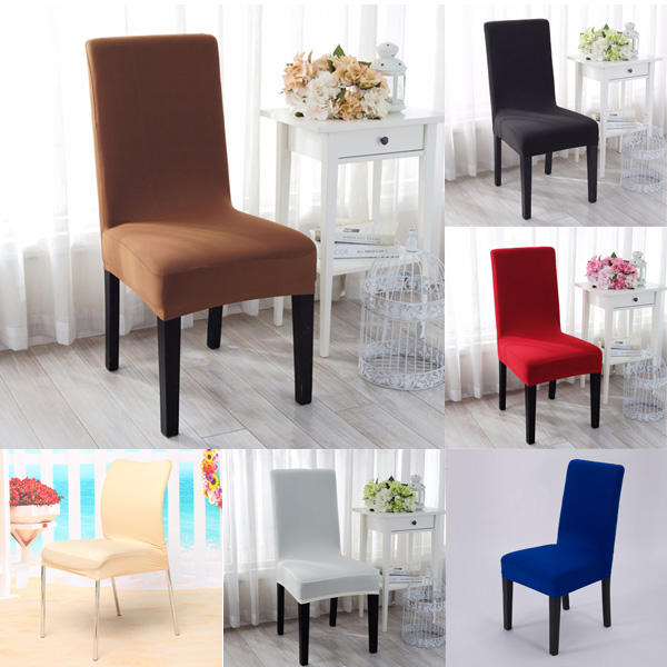 Awe Inspiring Elegant Jacquard Fabric Solid Color Stretch Chair Seat Cover Computer Dining Room Kitchen Decor Short Links Chair Design For Home Short Linksinfo