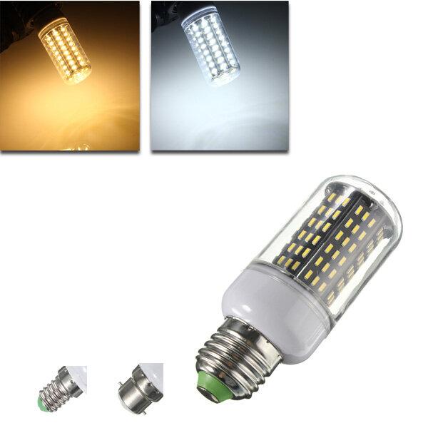 E14 / B22/E27 LED Lâmpada 9W SMD 4014 138 900LM Lâmpada de luz de milho branco puro / quente branco AC 220V