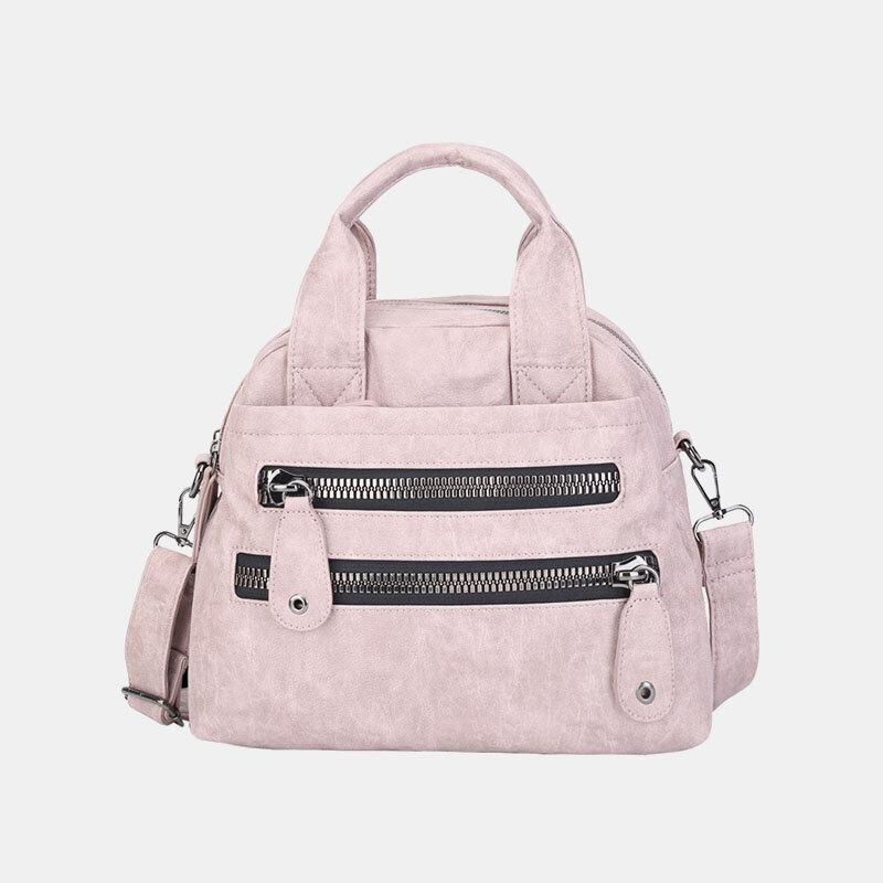 Women Multi-pocket Handbags Waterproof Crossbody Leather Bag