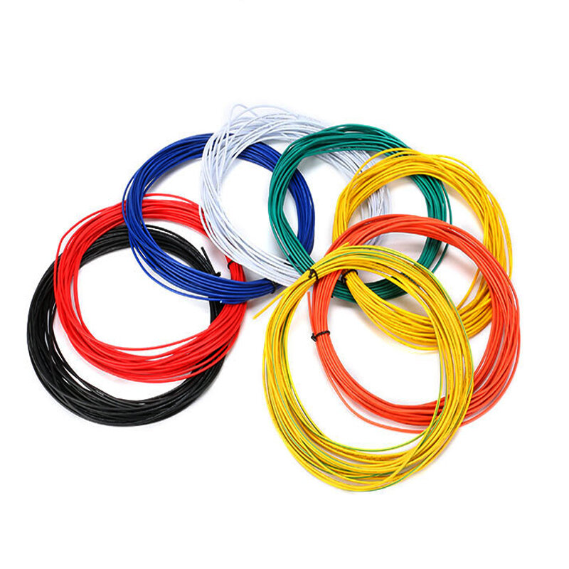 Excellway® 1007 Wire 10 Meters 22AWG 1.6mm PVC Electronic Cable Insulated LED Wire For DIY