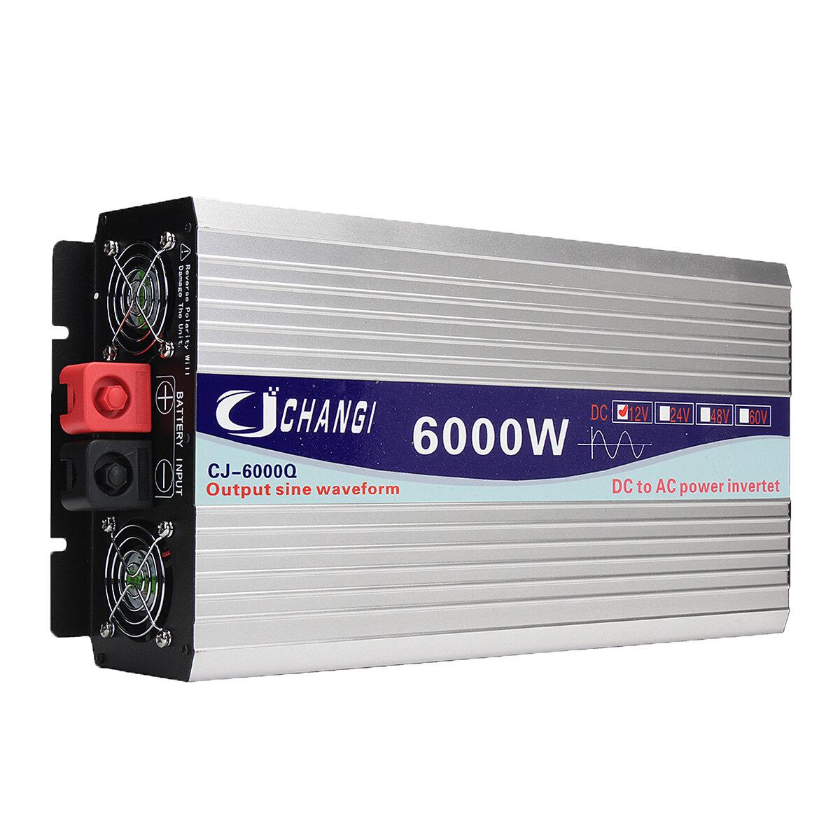Inversor de onda senoidal pura solar inteligente DC 12V / 24V para AC 110V 60Hz 3000W / 4000W / 5000W / 6000W Conversor