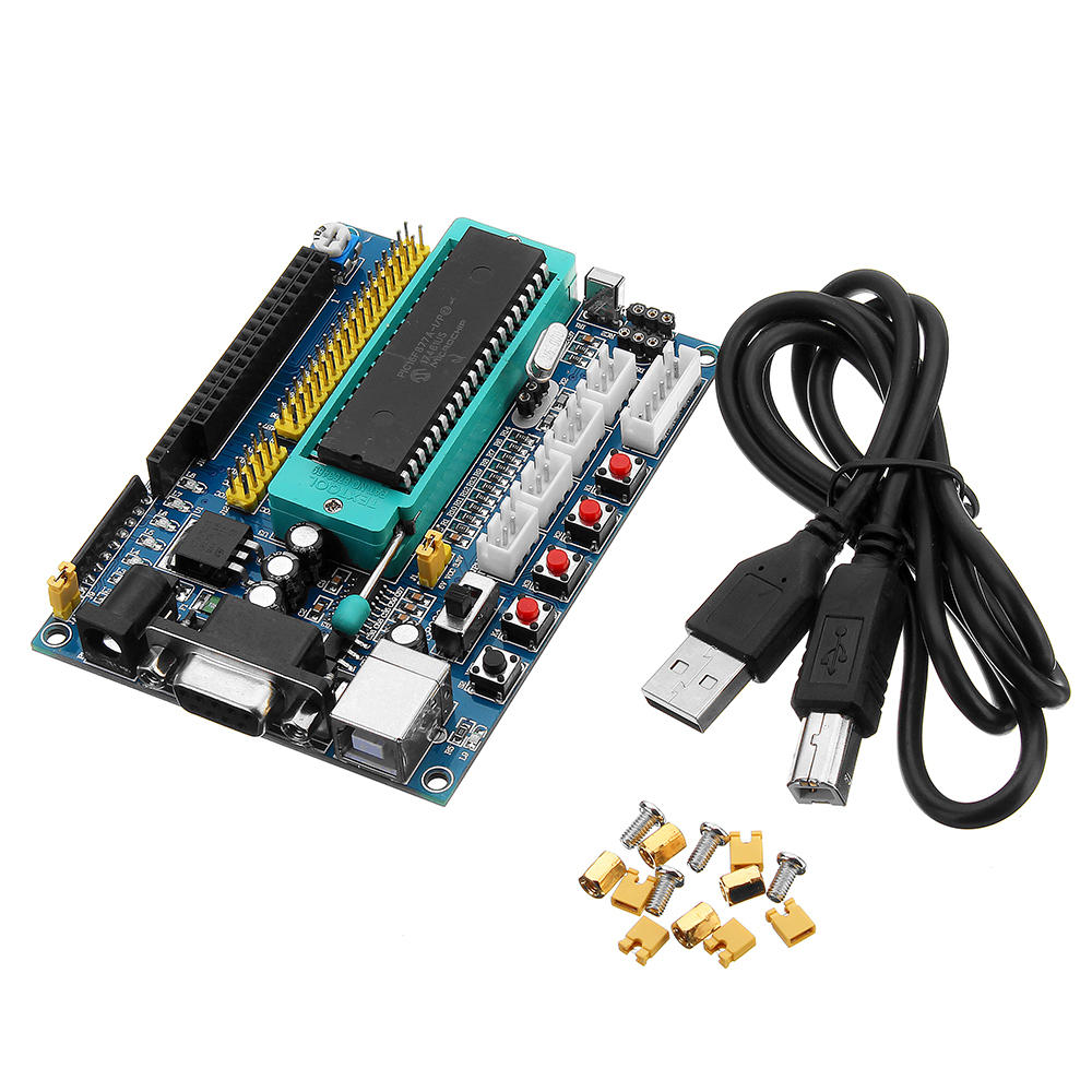 Arduino DC 12V PIC16F877A PIC Minimum System Development Board Emulator JTAG ICSP Program Minimum System Microcontroller Module фото
