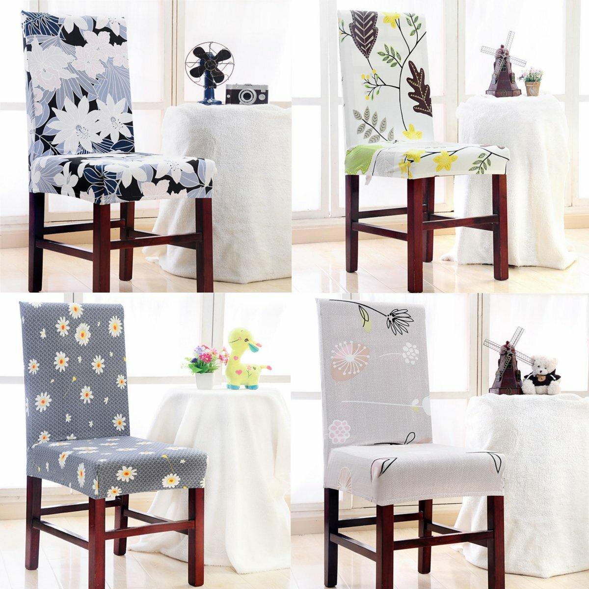Cubierta de la silla del hogar Elástico Anti-fouling Asiento Sub-set Sillas Cubierta para Hotel Cena Oficina