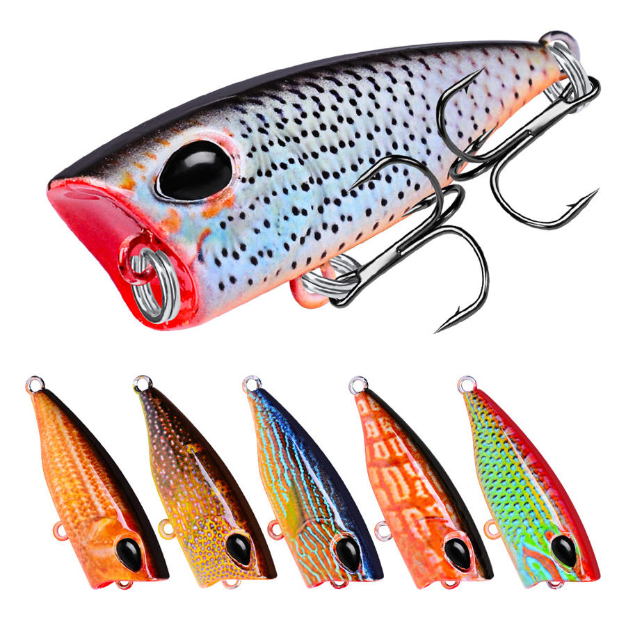 ZANLURE DW1120 10Pcs/Set 4 2cm 3 5g Carp Fishing Lure Topwater Popper  Fishing Bait Artifical Wobbler
