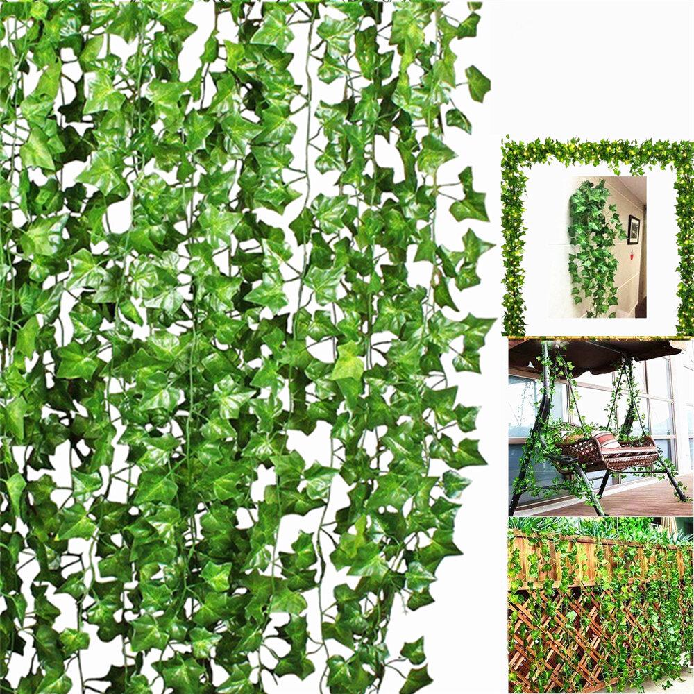 Artificial Trailing Ivy Vine Leaf Ferns Greenery Garland Plants Foliage Flowers Decorations