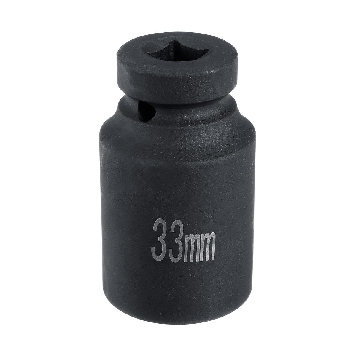 डीप इम्पैक्ट सॉकेट 1/2 इंच 33 मिमी एलॉय स्टील ब्लैक रिपेयर टूल