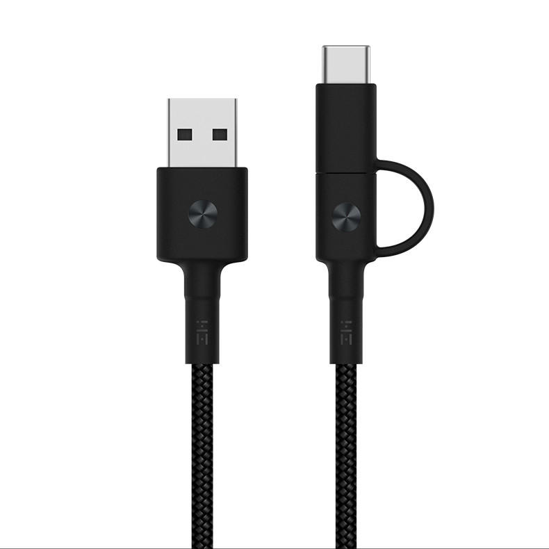 Original ZMI Braided 2 in 1 Micro USB Type-C Sync Fast Data Cable from Xiaomi Eco-System for Samsung Huawei