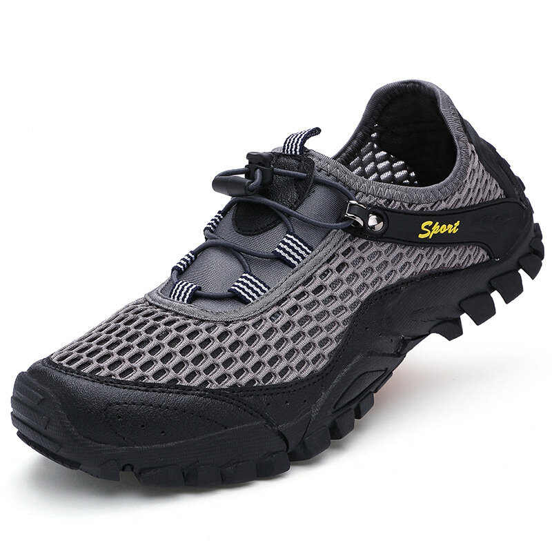 Q923 Men Outdoor Breathable Summer Trekking Water Shoes  Climbing Hiking Shoes Sneakers