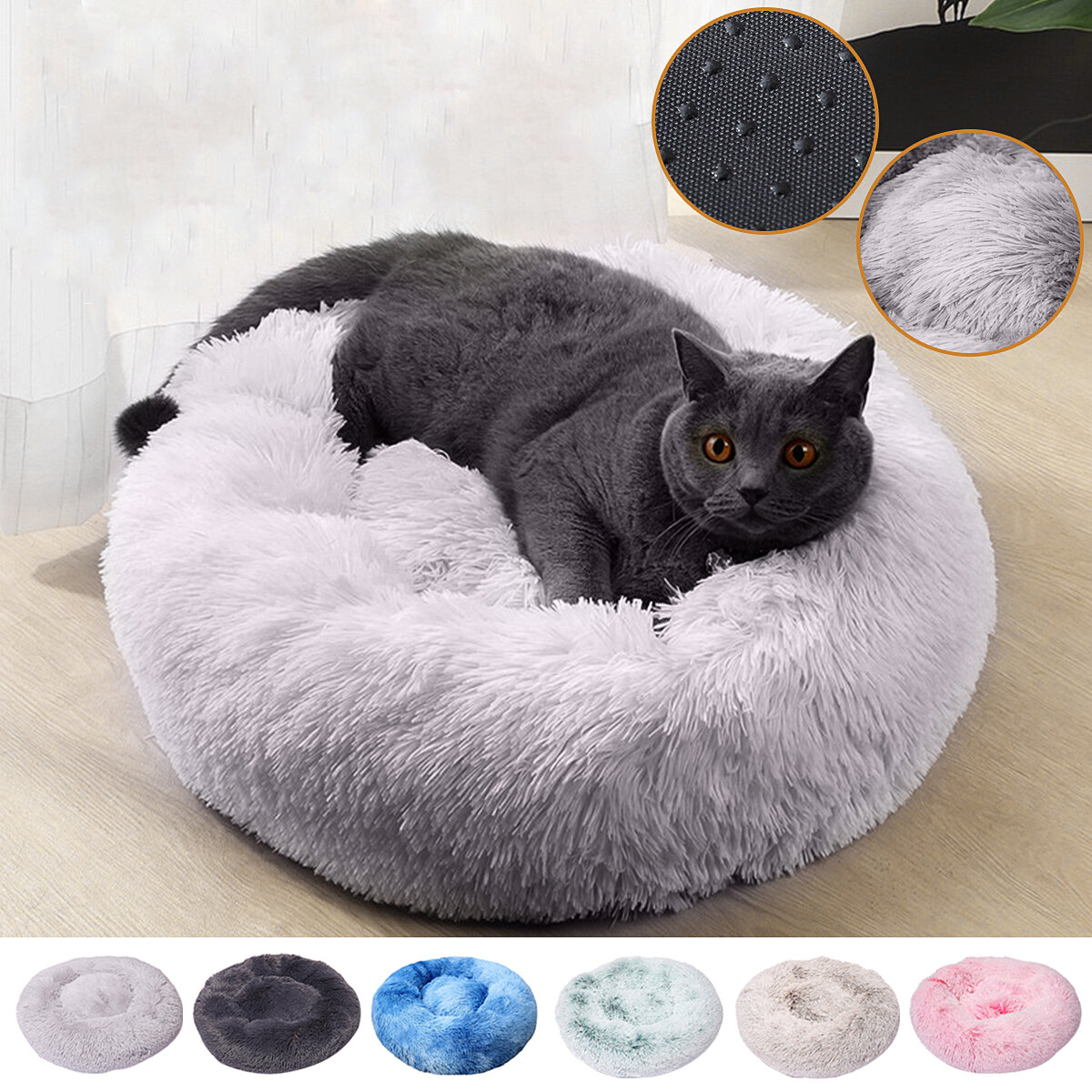 70cmぬいぐるみふわふわSoft猫と犬のためのペットベッド落ち着くベッドパッドSoftマットホーム