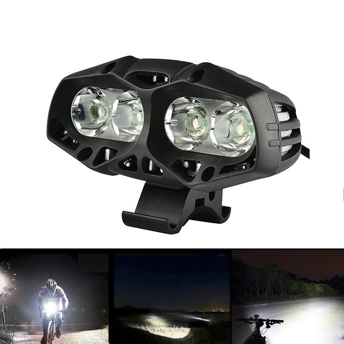 XANES ML01 1600LM Waterproof Bike Front Light 4* T6 4 Modes Multipurpose Outdoor Sports Headlight