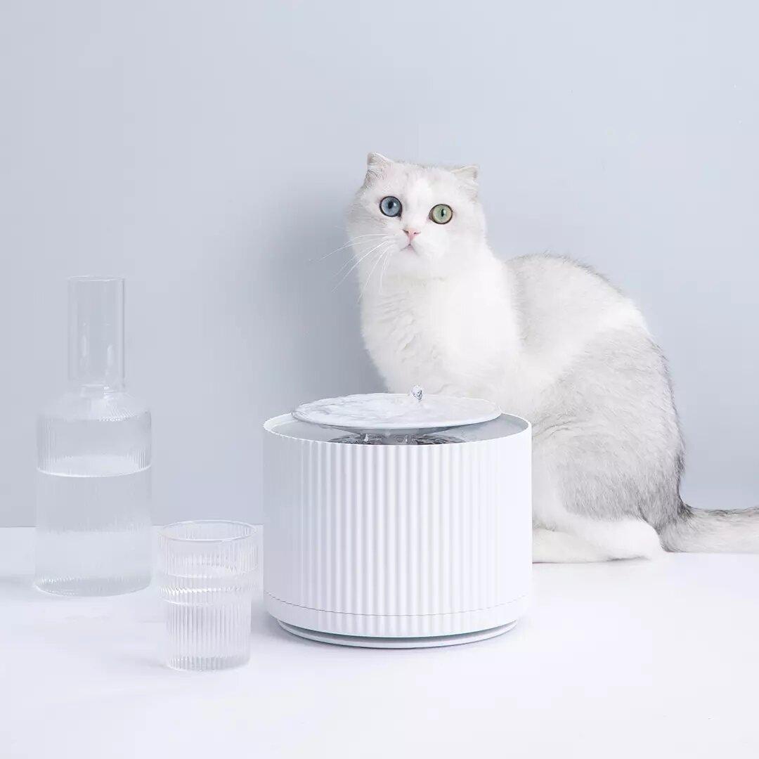FURRYTAIL Smart Katze Haustier-Wasserspender Wasseraufbereiter 5-Schicht-Filter 360-Grad-offener Trinkbehälter Haustier-