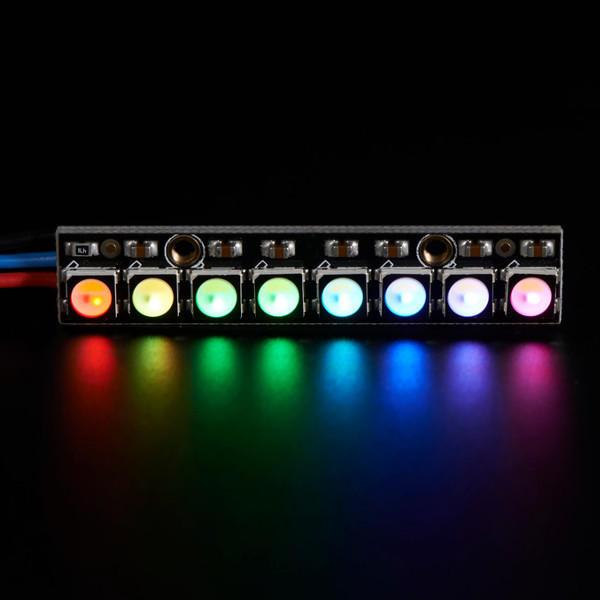 Straight Board 8x 5050 RGBW Koelwit LED 6000K met geïntegreerde stuurprogrammamodule