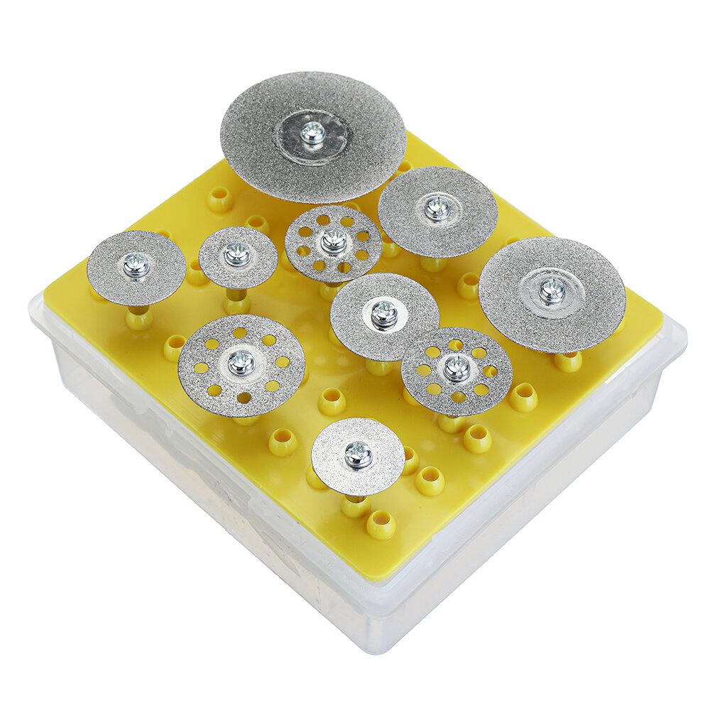Banggood coupon: Drillpro 10pcs Conjunto de Roda de Corte dos Discos Corte de Diamante para Ferramenta Rotativa Dremel