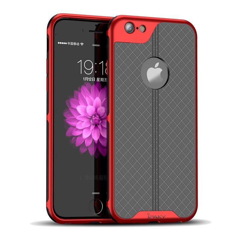 iPaky Plating Anti Fingeravtrykk Beskyttelsesveske Til iPhone 6s / iPhone 6 Varmeprofil Hard Hard PC