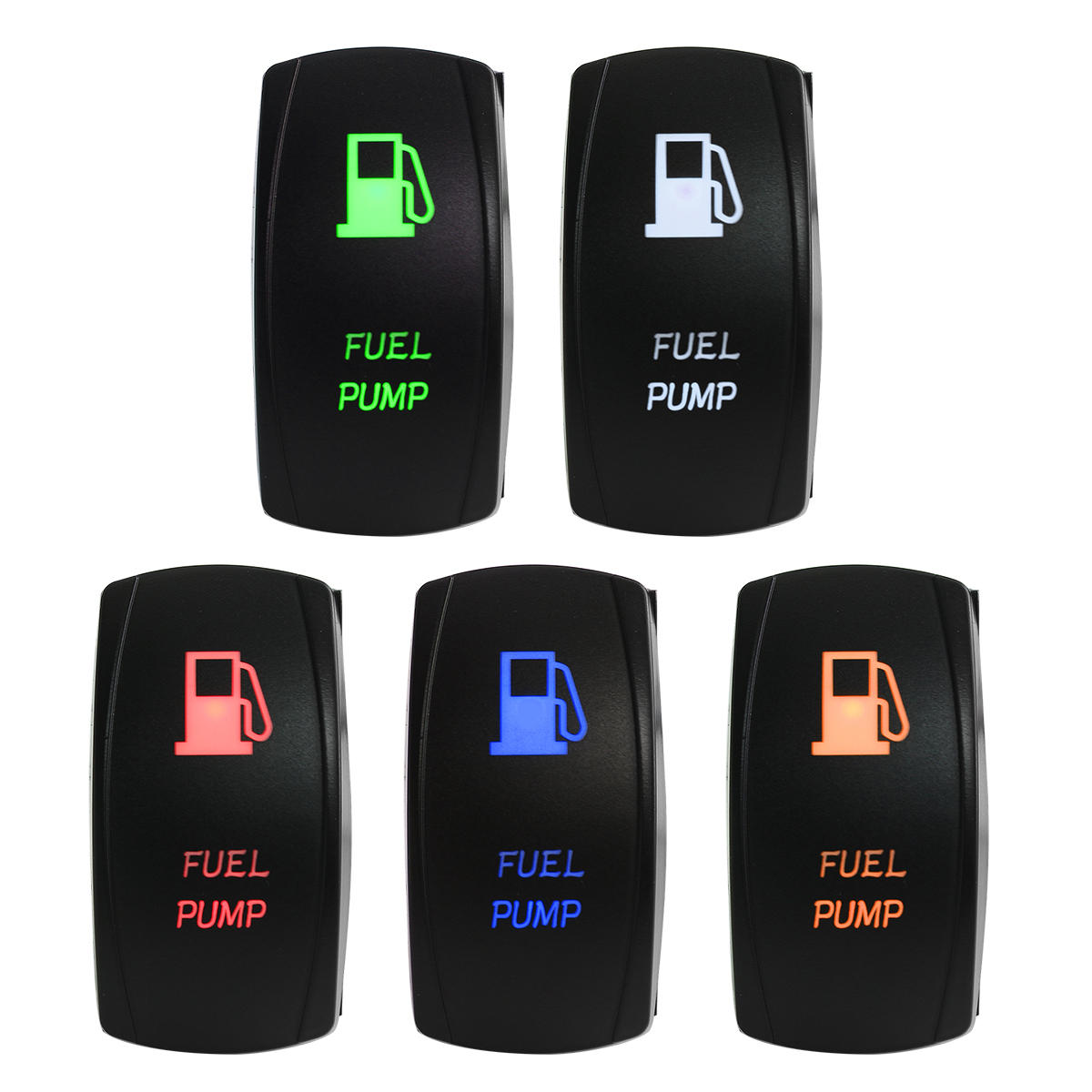 DC12/24V Fuel Pump LED Switch For Marine Boat Car Motorcycle Red/Blue/Green/Orange/White