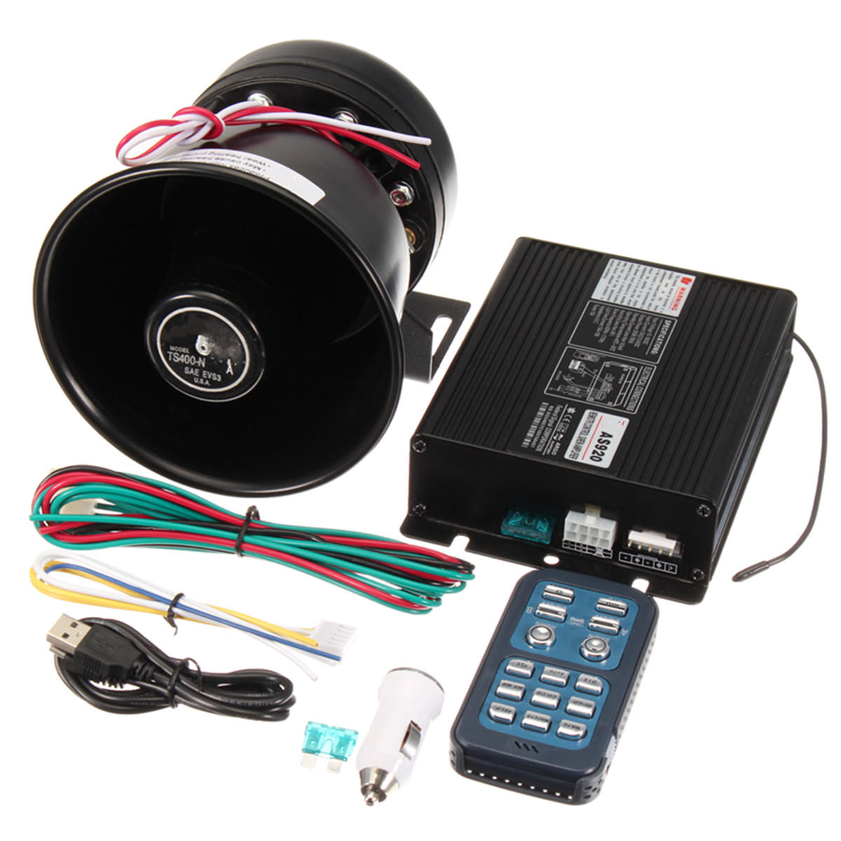 Loud Car Horn >> Dc12v 400w 8 Sound Loud Car Warning Alarm Police Siren Horn Pa
