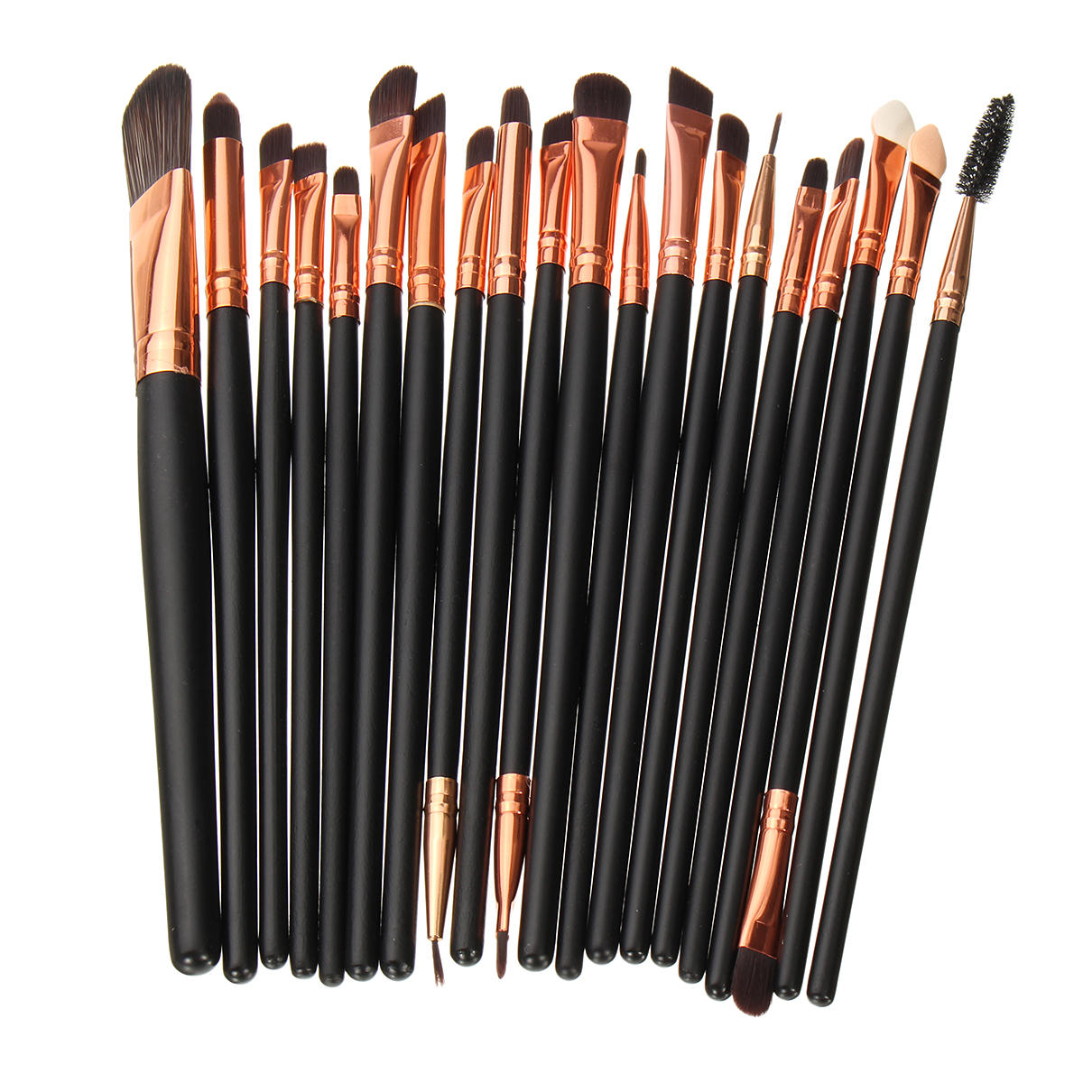 20pcs Makeup Brushes Set Pulverögonskugga Eyeliner Lip Cosmetic Brush Tool