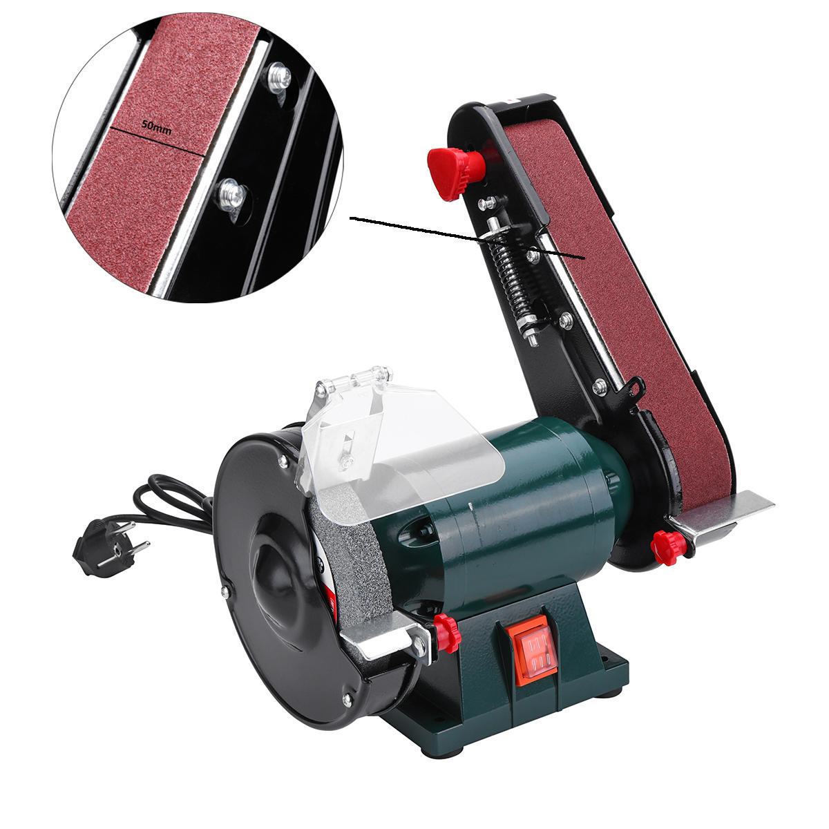 Sensational 6 Inch 150Mm Bench Grinder Belt Sander Sharpener Linisher Electric Sanding Grinding Machine Gmtry Best Dining Table And Chair Ideas Images Gmtryco