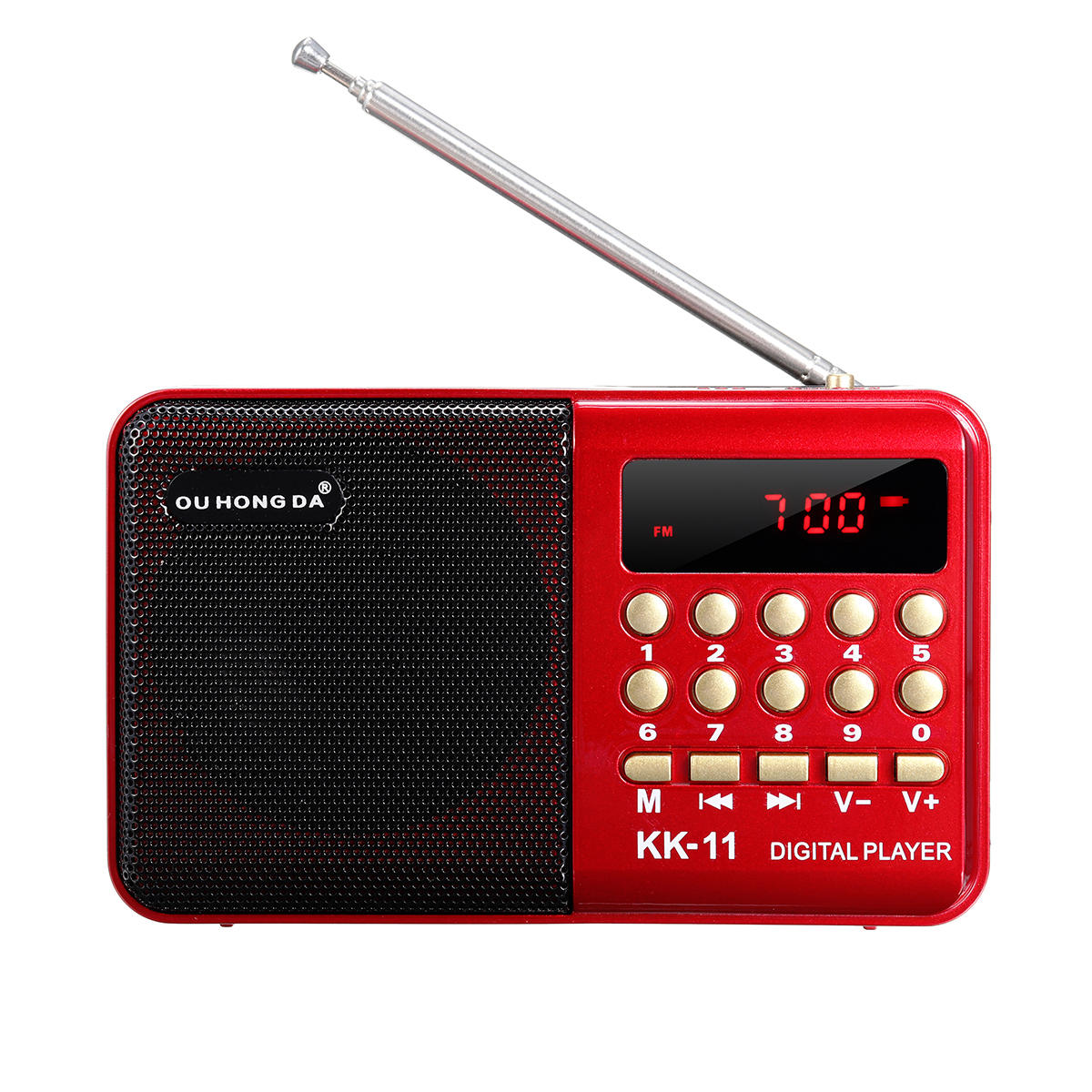DC 5V 3W Mini Portable Pocket LCD Digital FM Radio Speaker USB TF AUX MP3 Player