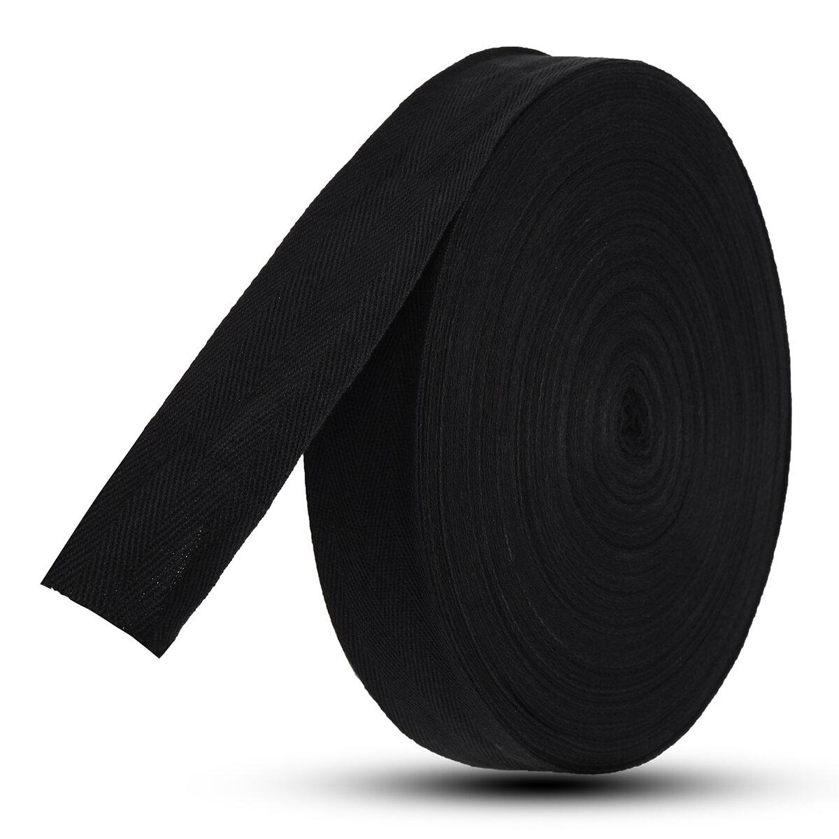 45M Cotton Tape Webbing Bag Binding Belt Fabric Strap Sewing Roll For Bunting Apron Bag Belt