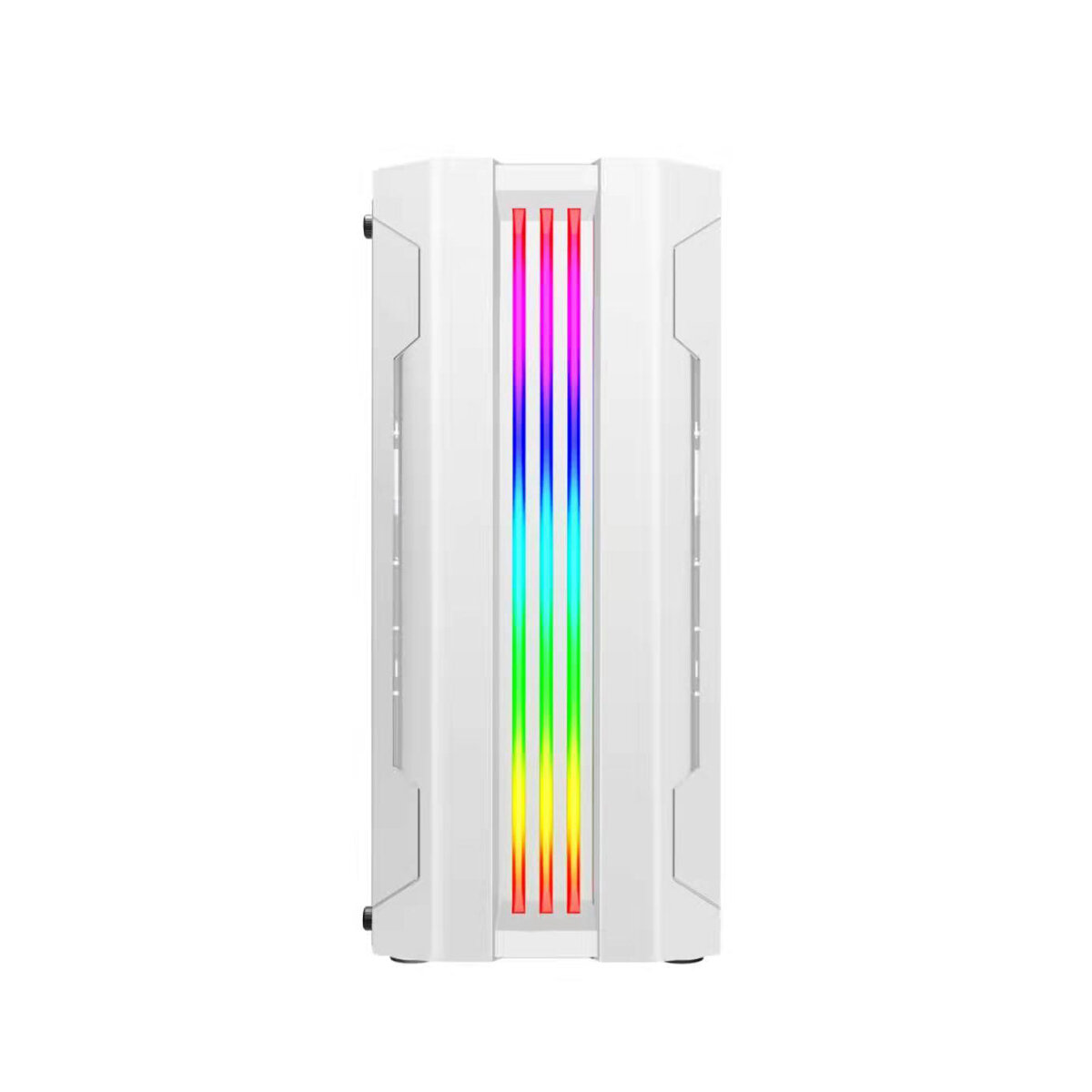 Gaming Case ATX Computer PC Cases with 280mm LED Rainbow Fan Desktop Computer Case Chassis RGB Light PC Case Tempered Glass
