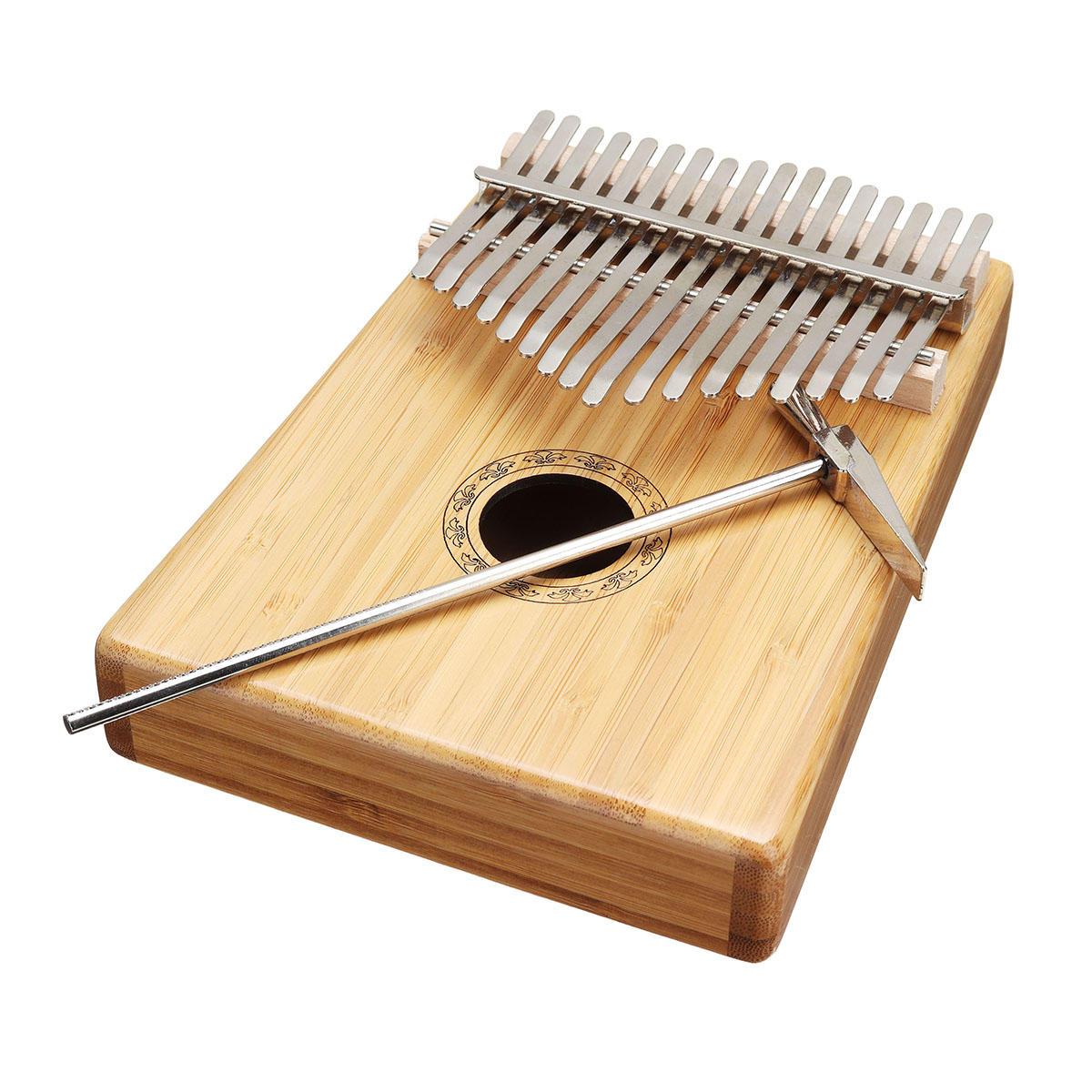 ट्यूनिंग Hammer के साथ 17 कीज़ बम्बू थम्ब पियानो फिंगर पर्क्यूशन कलिम्बा