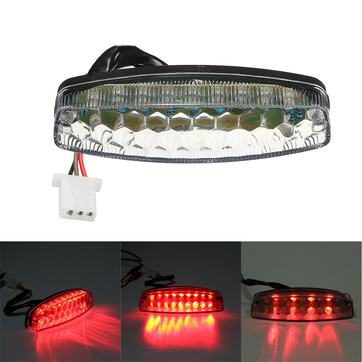 LED Rear Tail Brake Light For 50cc 70cc 110cc 125cc ATV Quad Kart TaoTao  Sunl Chinese