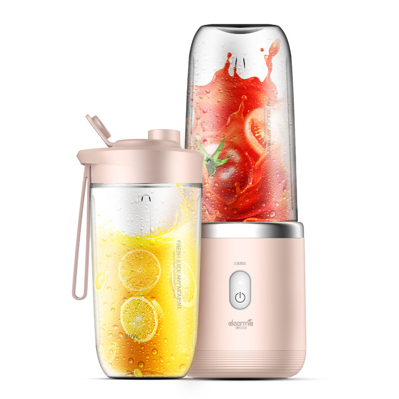 Deerma DEM-NU05 Juicer Wireless Portable Fruit And Vegetable Multi-Function Juicers Mini Student Juice Electric Juice Machine From Xiaomi Youpin