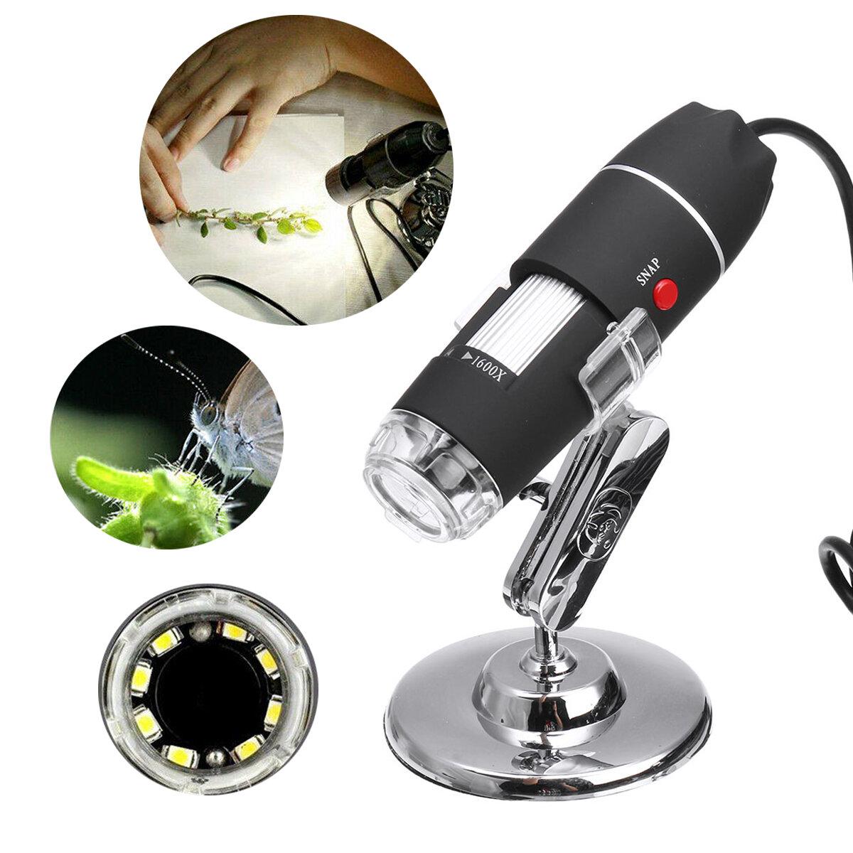 1600X 8 LED USB Zoom 3 In1 Digital Microscope Handheld Biological USB Microscope Magnification