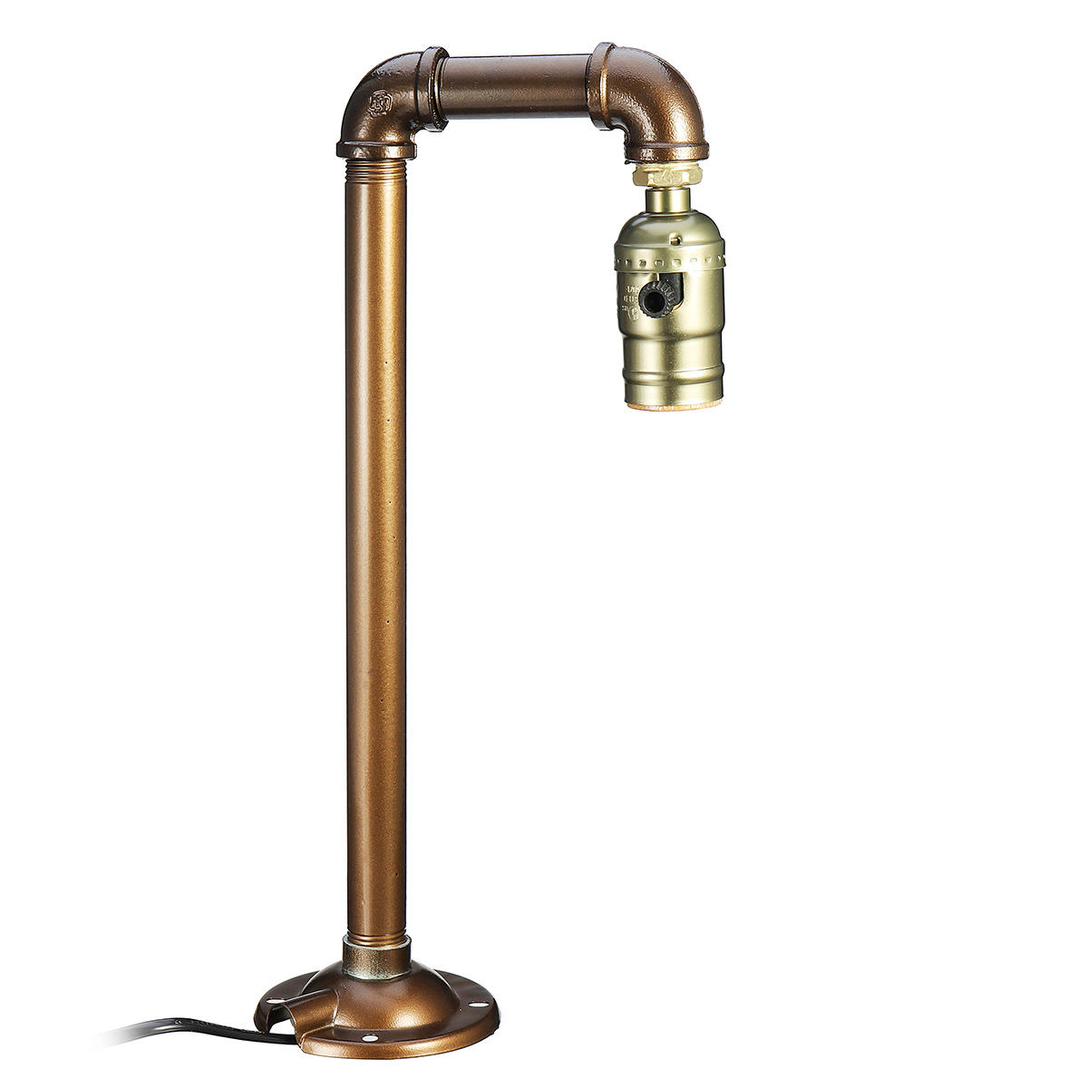 Industrial Water Pipe E27 Bulb Lamp Light Desk Table Lamp Home Bedroom Fixture Decor