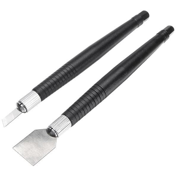 2pcs Tin Scraper Solder Paste Scraping Cutter Set for PCB BGA Repair Cleaning Tool