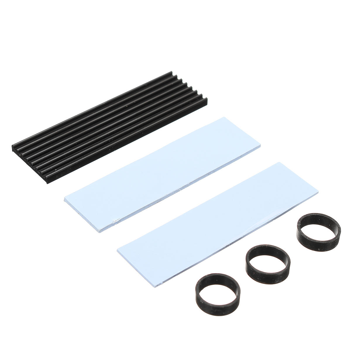 M.2 NGFF NVMe 2280 PCIE SSD Passive Cooling Aluminum Fins Heat Sink Thermal Pad