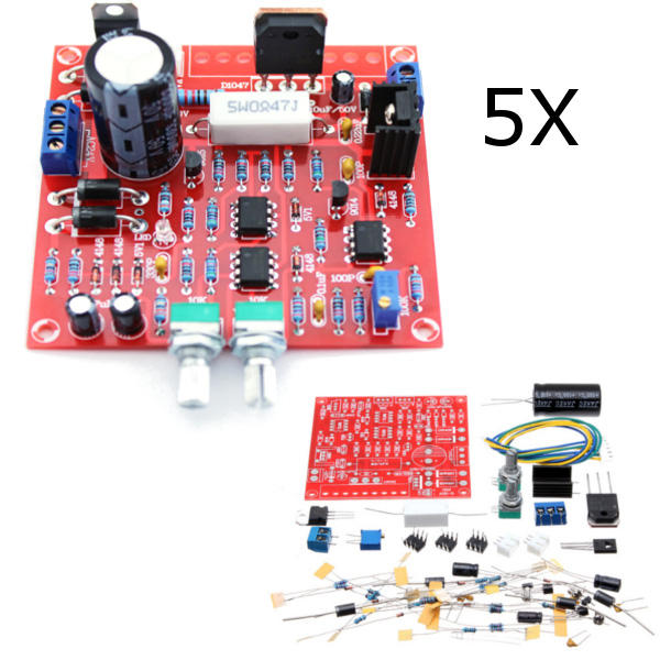 5Pcs Original Hiland 0-30V 2mA - 3A Adjustable DC Regulated Power Supply DIY Kit