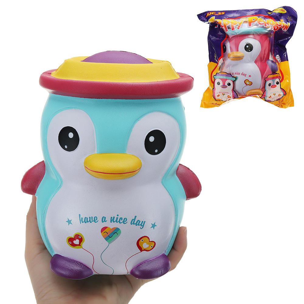 JJC_SS Squishy Happy Penguin Huge Jumbo 18cm Kawaii Soft Slow Rising Toy Gift With Original Package Collection