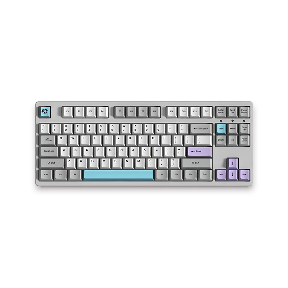 AKKO 3087 V2 Silent 87 Keys Mechanical Gaming Keyboard Wired Morandi Grey AKKO Switch PBT Keycap Gaming Keyboard