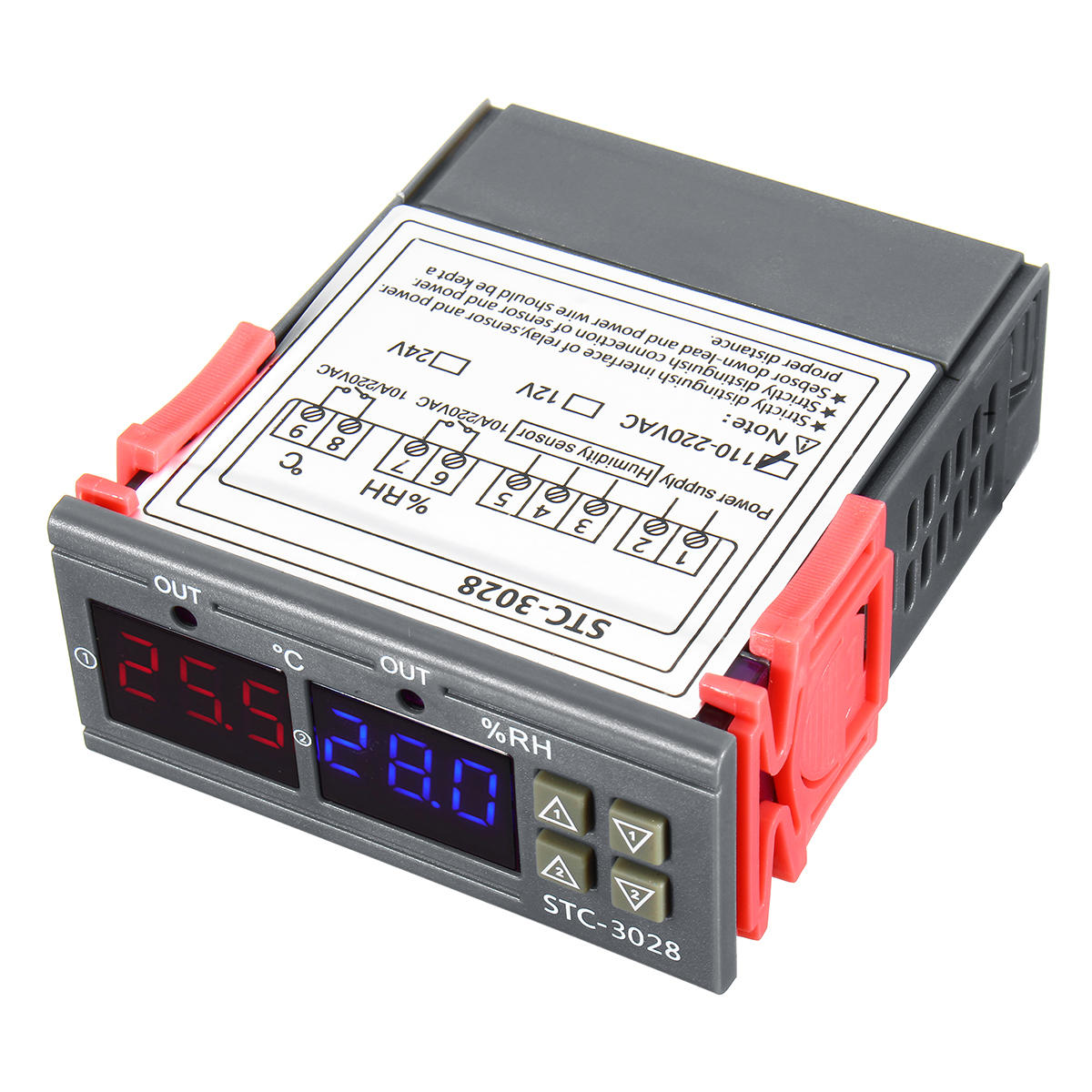 110-220V STC-3018 Digital Temperature Thermostat Controller With Setting Function Value Display C/F Conversion
