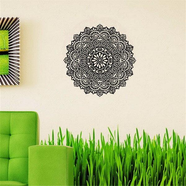 59X59CM removível mandala flor parede adesivos vinil padrão mandala PVC parede adesivos