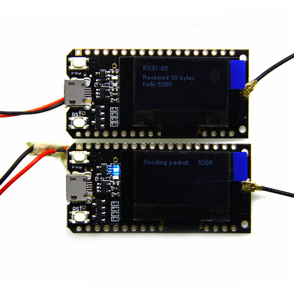 2Pcs LILYGO® TTGO LORA32 915Mhz ESP32 LoRa OLED 0.96 Inch Blue Display bluetooth WIFI ESP-32 Development Board Module With Antenna