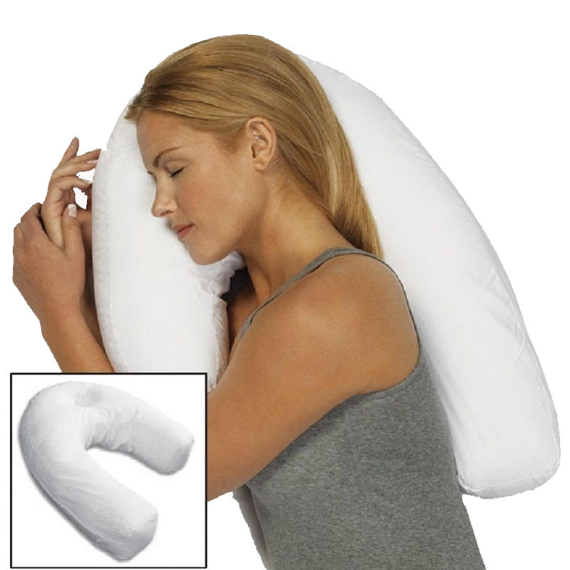 Unisex Sleeper Pillow Neck Spine Shoulder Support Cushion Back Pain Relief Home Travel Use