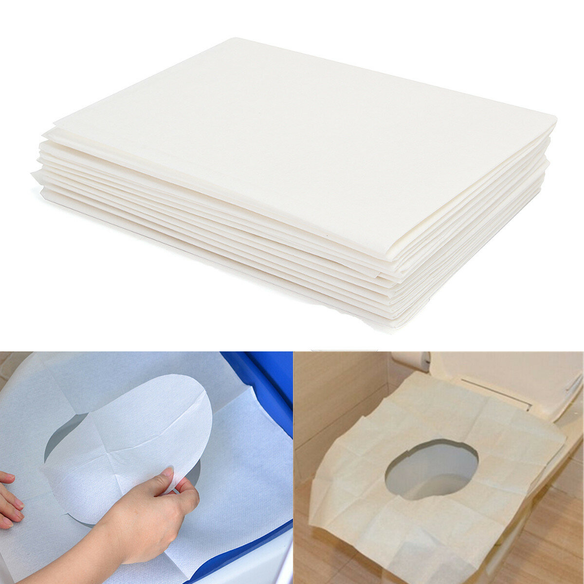 Brilliant 10Pcs Toilet Seat Covers Paper Travel Biodegradable Disposable Sanitary Ibusinesslaw Wood Chair Design Ideas Ibusinesslaworg