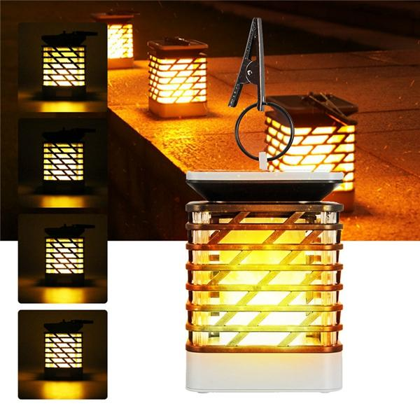 Led Flame Effect.Solar Powered 75 Led Flame Effect Hanging Lantern Light Outdoor Waterproof Garden Lawn Tree Decor