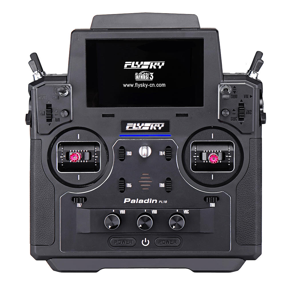 Flysky FS-PL18 Paladin 2.4G 18CH Radio Transmitter with FS-FTr10 Receiver HVGA 3.5 Inch TFT Touch Screen for RC FPV Racing Drone Airplane Helicopter Vehicle