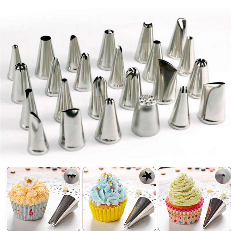 Honana CF-PT02 24Pcs Flower Pastry Cake Icing Piping Nozzles Decorating  Tips Cake Baking Tools