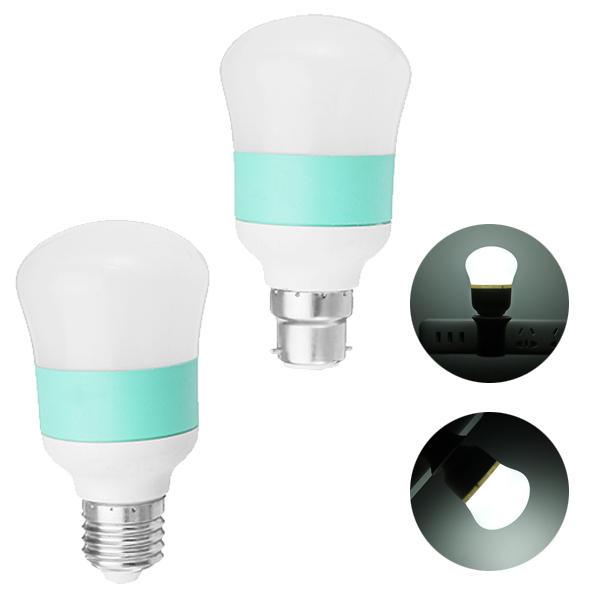E27/B22 5W 6LED 2835SMD PC Cover Shell White Energy-saving Gourd Ball Light Bulb AC85-265V